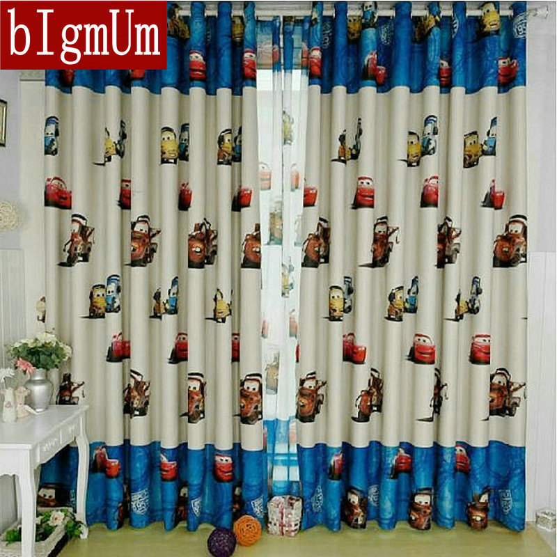 Free shipping Enviroment friendly Cartoon Curtains For Kids Finished Printed Curtain Tulle Curtain For Children Boys
