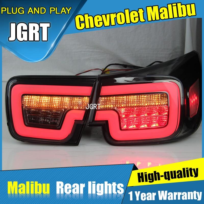 4PCS Car Styling for Chevrolet Malibu Tail Lights 2011-2014 for Malibu LED Tail Lamp+Turn Signal+Brake+Reverse LED light ветровик rein для chevrolet cobalt ii 2011 седан на накладной скотч 3м 4 шт