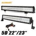 """Auxmart 5D 22"""" 200w Curved / 23"""" 240W LED Work Light Bar Spot Flood Combo Beam Offroad 4x4 4WD ATV Truck Trailer Camper 12V 24V"""