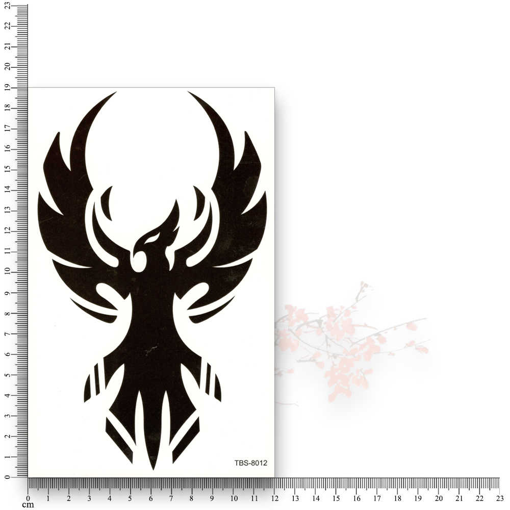 Племенной Тотем черное кольцо с головой орла поддельные татуировки несмываемые водопереводной временный наклейки блеск Сексуальный макияж Феникс боди арт