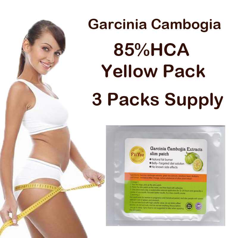 FiiYoo (3 Packs Supply) Pure Garcinia cambogia extracts weight loss diet supplement Burn Fat ( 85% HCA ) Slimming for women 3 bottles 180 units pure garcinia cambogia extracts diet patch weight loss pad 95% hca 100% effective for slimming