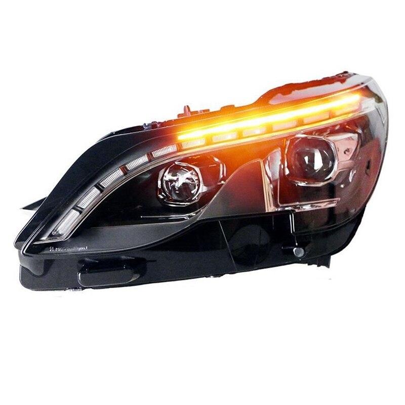 Clignotant latéral Automovil Auto Cob extérieur Drl style diurne Led phares voiture lumières assemblée pour Peugeot 4008