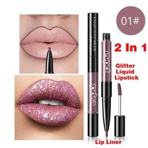 Diamond Liquid Lipstick Matte Red Lip Long Lasting Waterproof Make Up Lip Stick Nude Pink Lips Liner Pencil Gloss Makeup TSLM1(China)