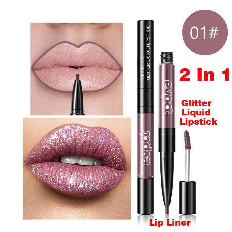 เพชร Liquid ลิปสติก Matte Red Lip Long Lasting กันน้ำ Make Up Lip Stick Nude Pink LIPS Liner Pencil GLOSS แต่งหน้า TSLM1