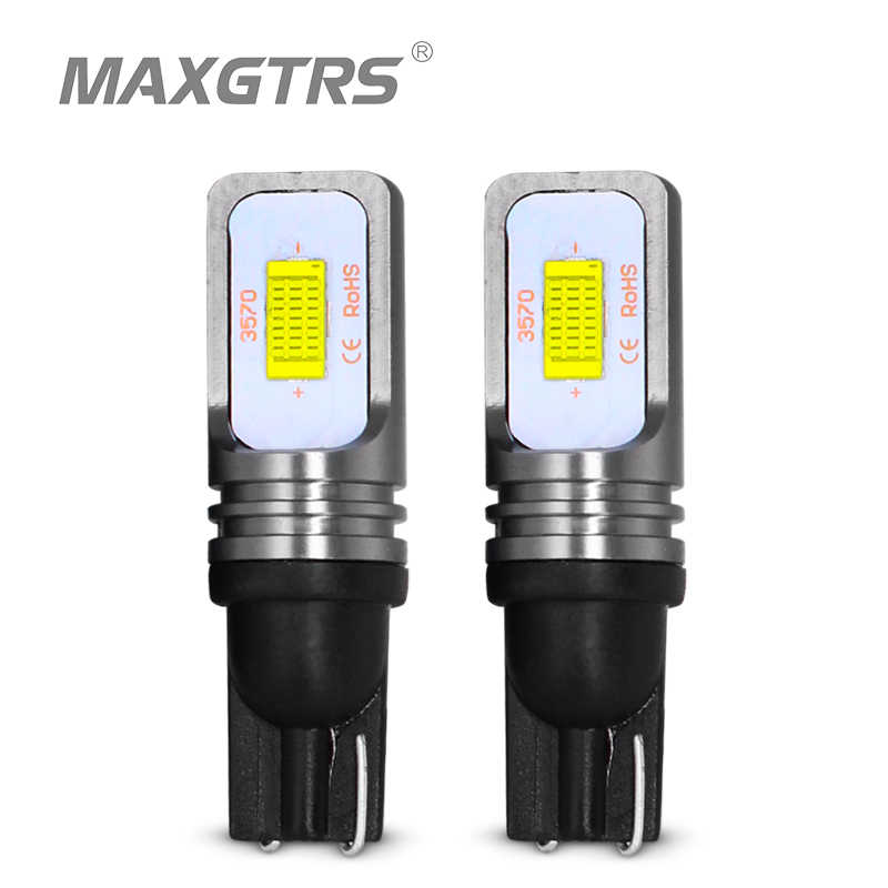 2x T10 CANBUS No ERROR W5W 168 194 3570 Chip LED 72W Auto Indicator Replacement Light Wedge Parking Bulbs Lamps Car Light Source