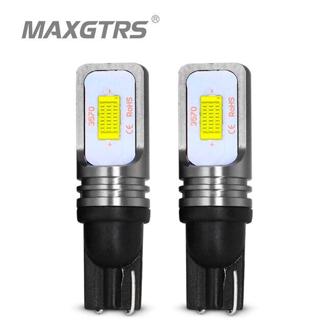 2x T10 CANBUS hiçbir hata W5W 168 194 3570 çip LED 72W otomatik gösterge yedek ışık kama park ampuller lambalar araba ışık kaynağı