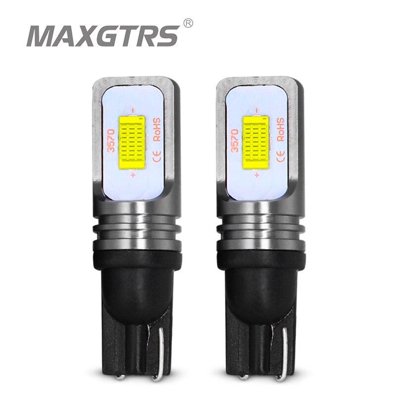 2x t10 canbus nenhum erro w5w 168 194 3570 chip led 72 w auto indicador de substituição luz cunha estacionamento lâmpadas carro fonte de luz