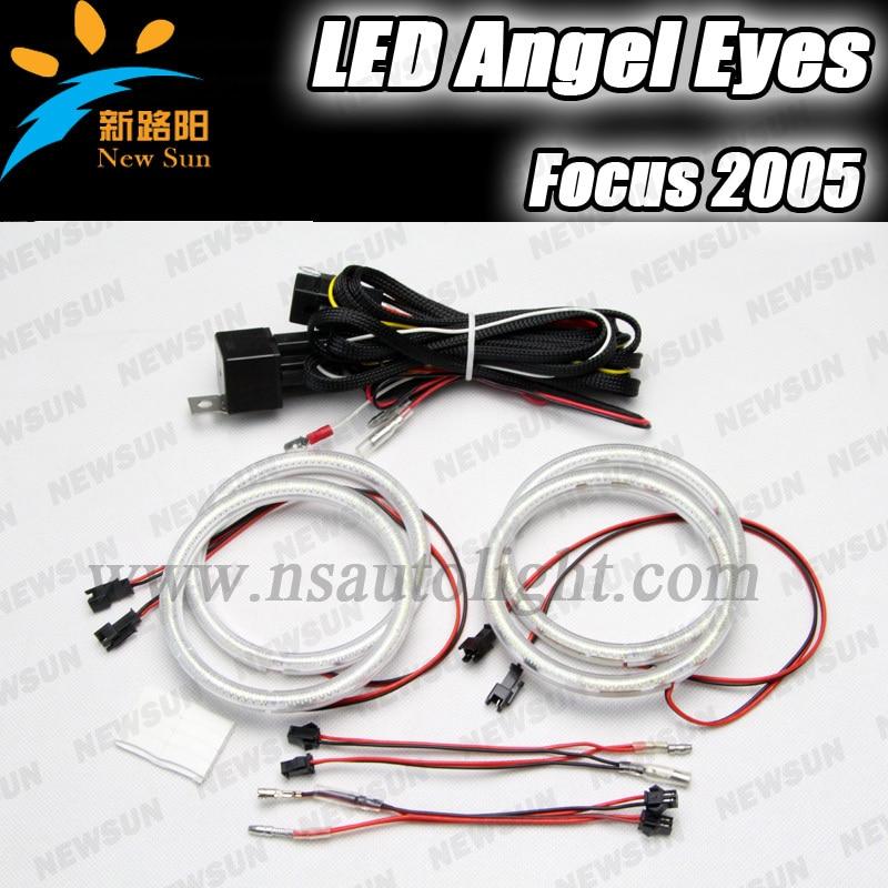 ФОТО Free Shipping High technology! NEW 105mm led angel eyes kit, 3014SMD led angel eyes for Ford Focus 2005 8000K white led rings