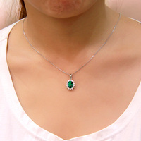 S925 sterling silver Emerald pendants for womens YY Fine jewelry bands Trendy pendant