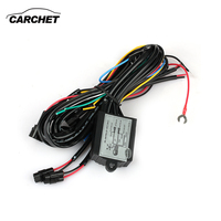 CARCHET DRL Daytime Running LED Light Relay Harness Control On Off Dimmer Car