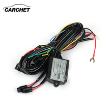 CARCHET LED DRL Daytime Running Light Relay Harness Controller On Off Dimmer Car DRL Daytime Running Lights DC 12V 30W DISCOUNT