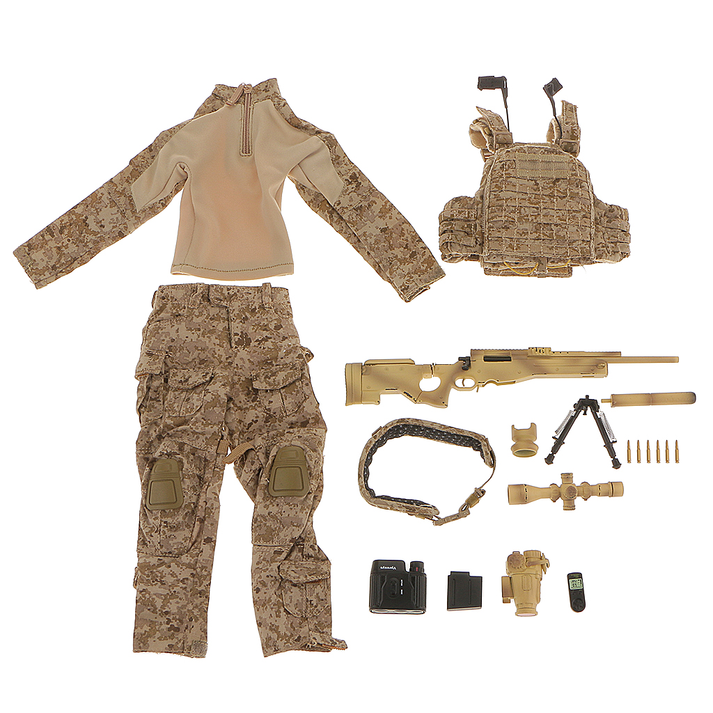 New Arrivals 1/6 U.S Special Warfare Sniper Clothes Suit Set Fit 12' ZY Toys Desert Camo Baby Toys Birthday Gift Clothing Acces zy toys 1 6 scale barrett sniper rifle m82a1m m82a3 desert