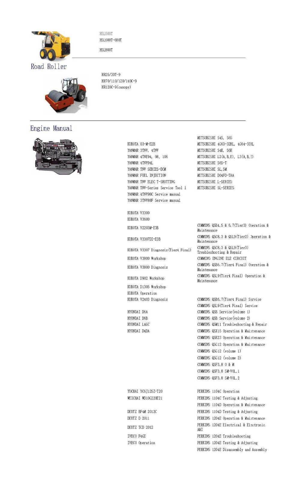 For Hyundai Robex Construction Equipment Engine Service Manuals Wiring Diagram Cummins Qsx15 Sm 1 2 3 4
