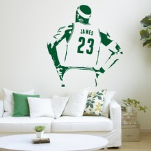 Free Shipping Vinyl Sticker Home Interior Removable Decor Wall Stickers Basketball star Lebron James sports wall decor mural