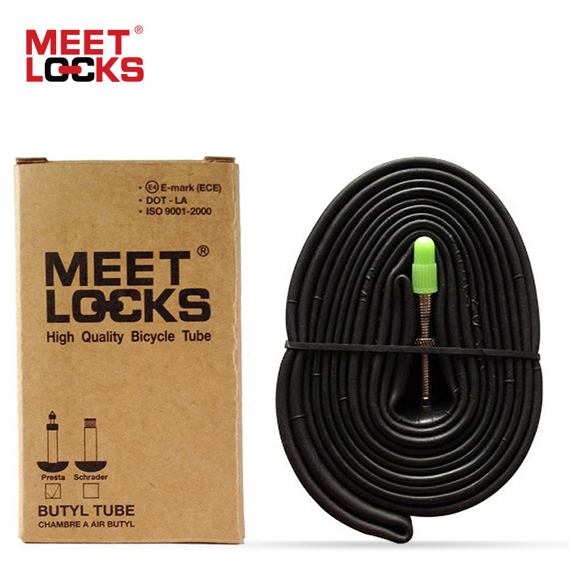 MEETLOCKS 700x25 / 28C Road Bike Inner TubePresta 3240, 60mmDeep Seksjon RimFits 700x25 / 28mm Road TireCycling Innerør