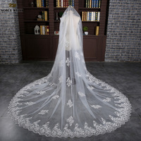 Cathedral Wedding Veil Bridal Applique Edge One Layer White Ivory Lace Long Veils Wedding Accessories