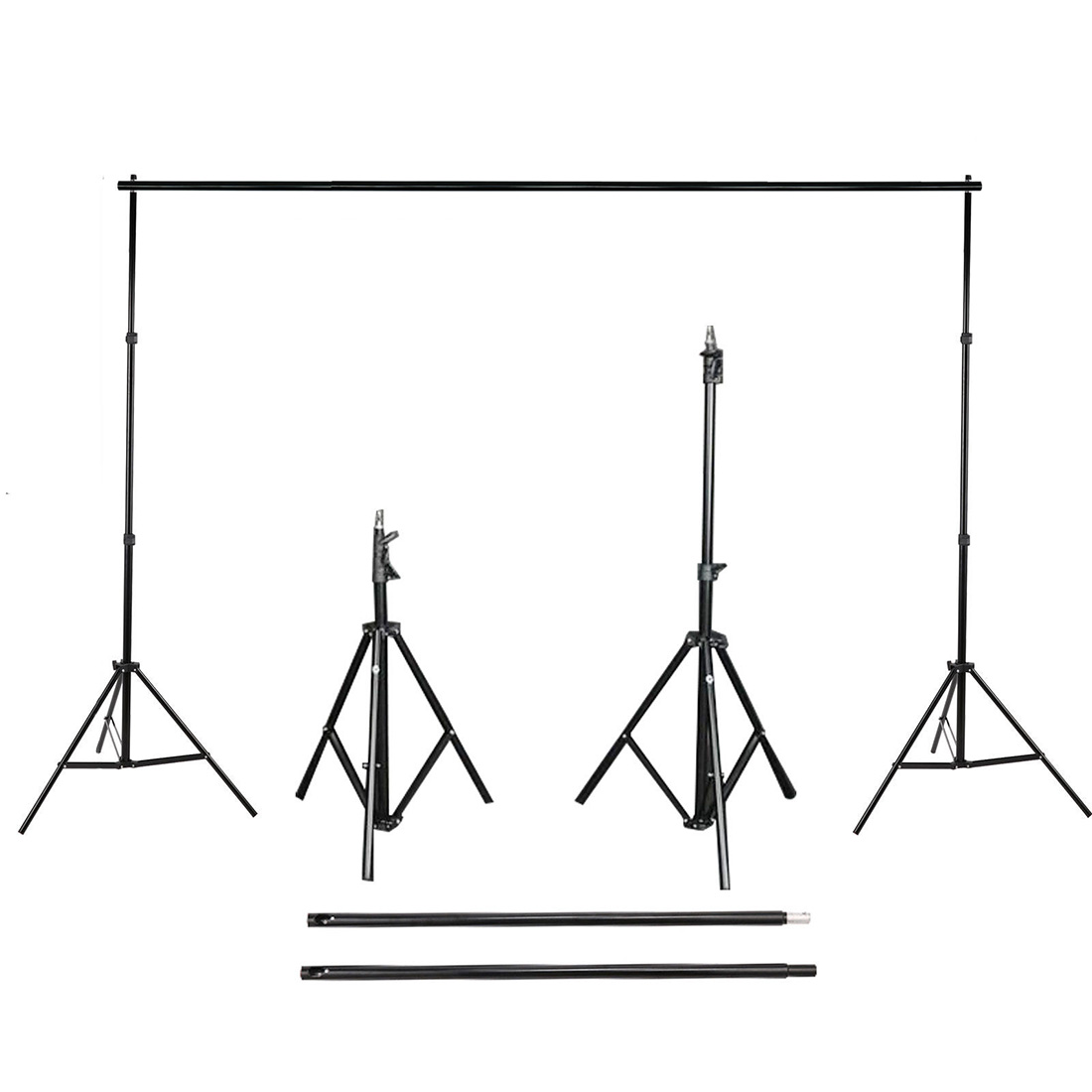 Meilleures Offres 2.8 m x 3 m Photo Fond de Studio Support Toile De Fond Stand Kit + Sac de Transport Gratuit