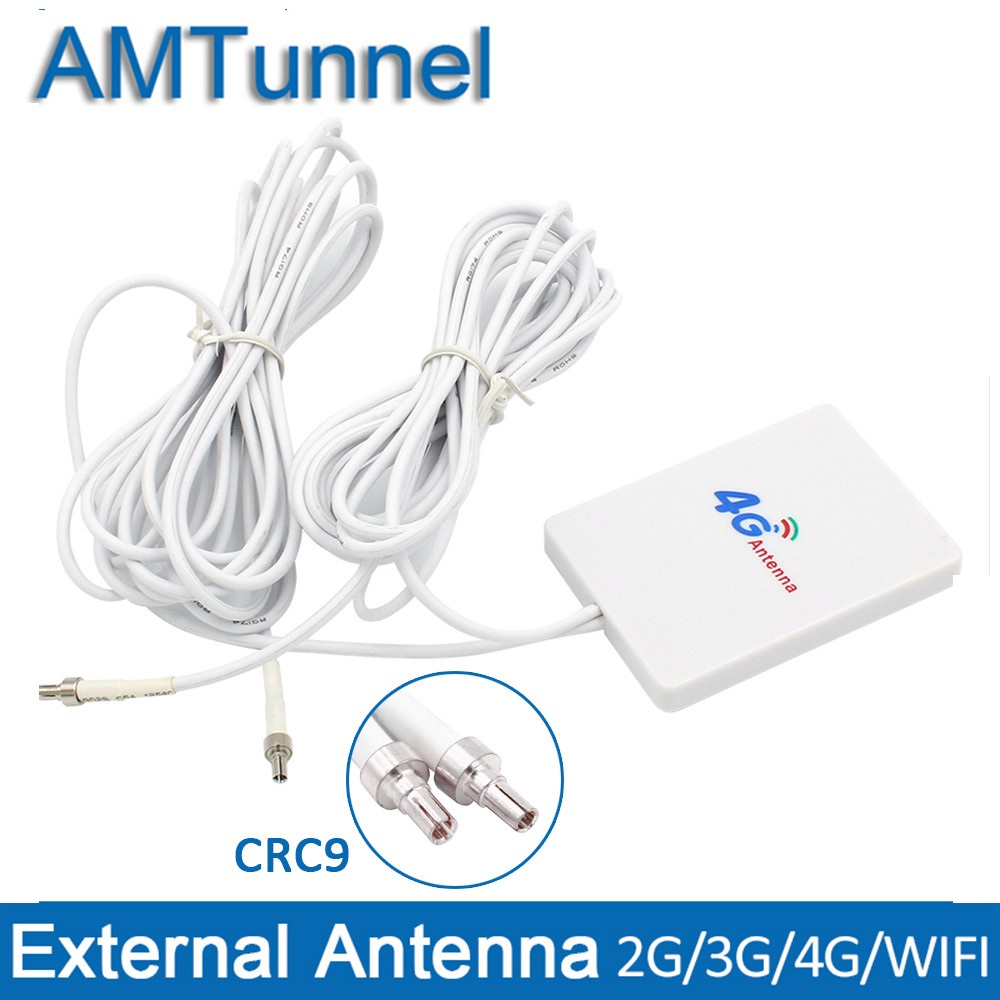 4G LTE Antenna WiFi Router Antenna 3G With CRC9 3m Cable For Huawei E3276 E3272 Modem Aerial