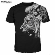купить Horror Roaring Lion 3D Print Tshirt Women/Men Hip hop Tee T-shirt Streetwear T shirt Mens 2018 New Black Tops Clothes camiseta дешево