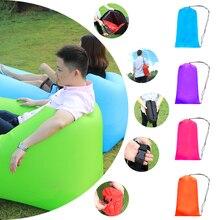 kishoo brand lazy bag lay bag sleeping bag fast inflatable camping air sofa sleeping beach bed banana lounge bag lounger laybag