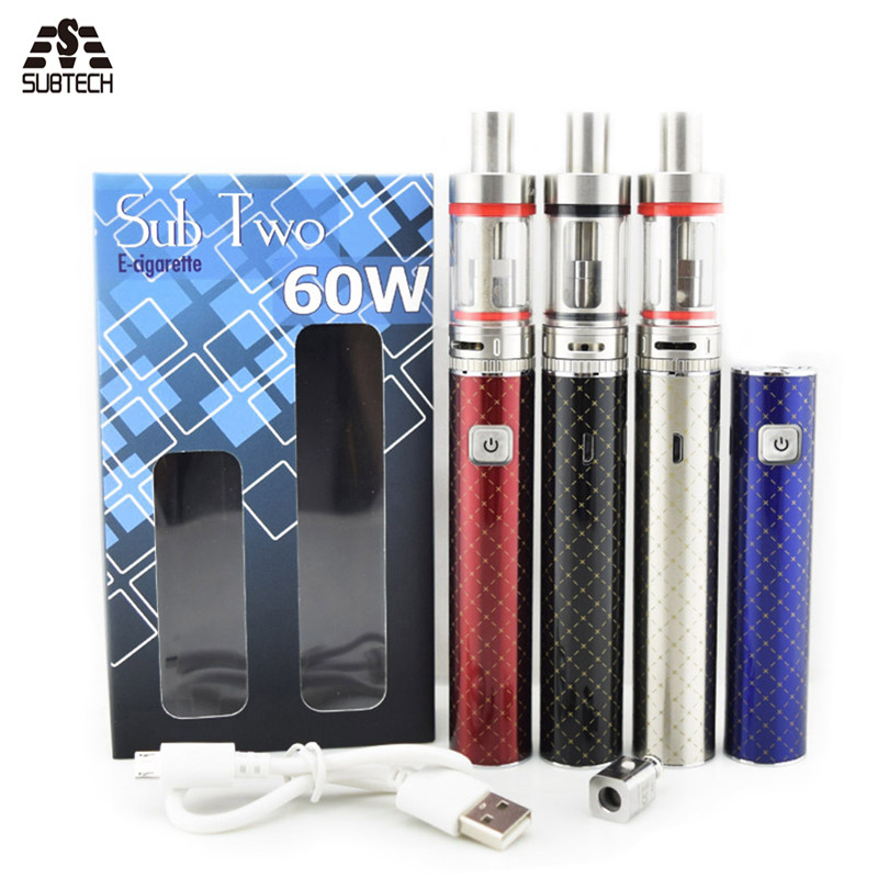 New coming Electronic cigarette 2200mah battery 3ml atomizer air flow control Sub two kit evod e