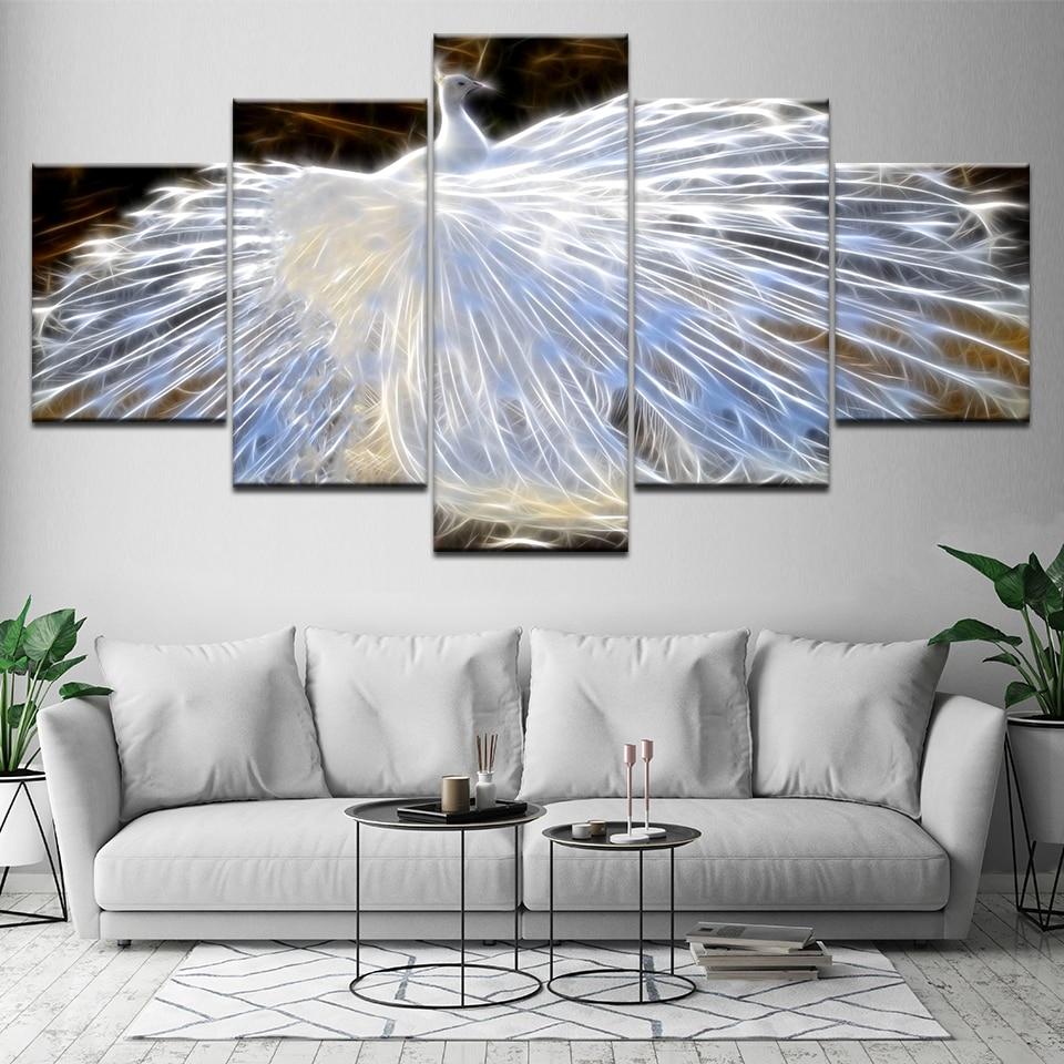 Painting Cuadros Home Decoration 5 Pieces/Pcs White