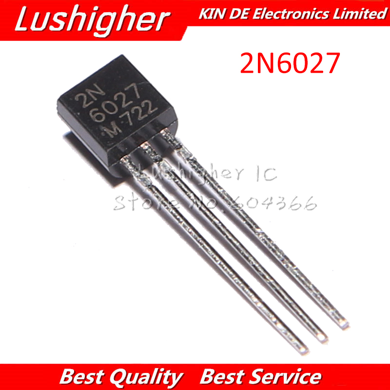 10PCS 2N6027 TO-92 2N 6027 TO92 Transistor 150MA 40V New And Original Free Shipping