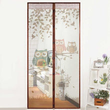 Cute Cartoon Owl Pattern Magnet Mosquito Net Magnetic Anti Mosquito Curtains Door Curtains Prevent Mosquito Screen Hot(China)