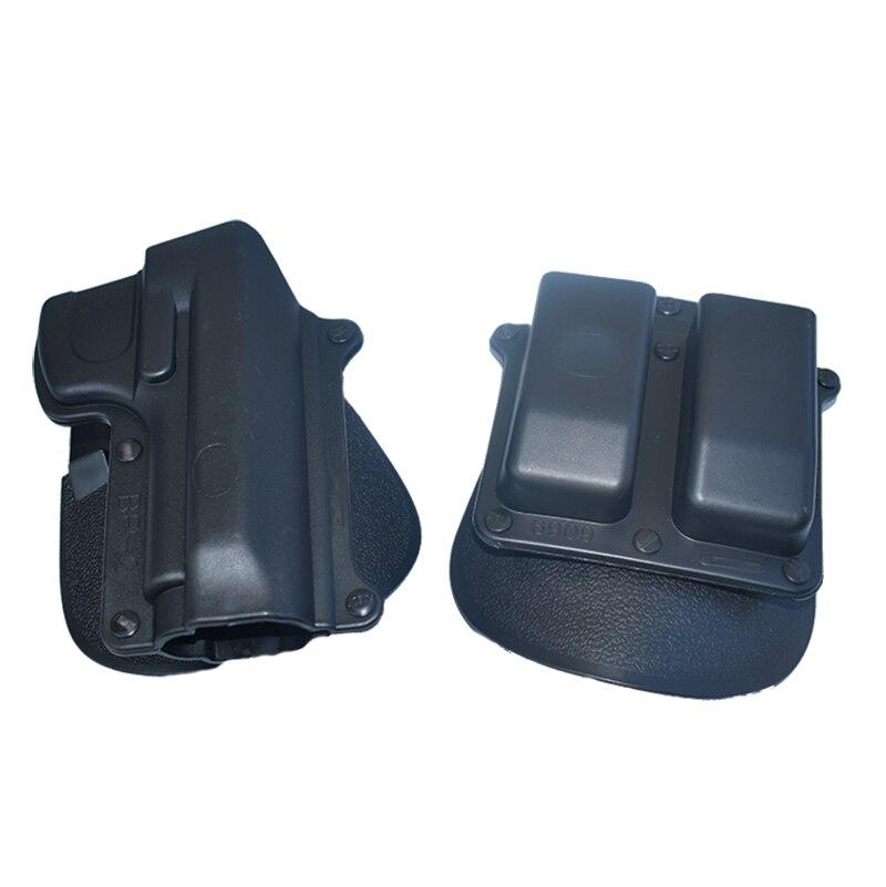Étui de pistolet tactique pour BR2 Beretta 92/96 (sauf Brig & Elite) étui de pagaie Taurus 92/99/Cz 75B. 40 Double pochette de Magazine