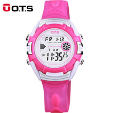 OTS Children Watch Fashion Casual Digital Watches Wristwatches 50M Waterproof Jelly Kids Clock boys Hours girls Students watch