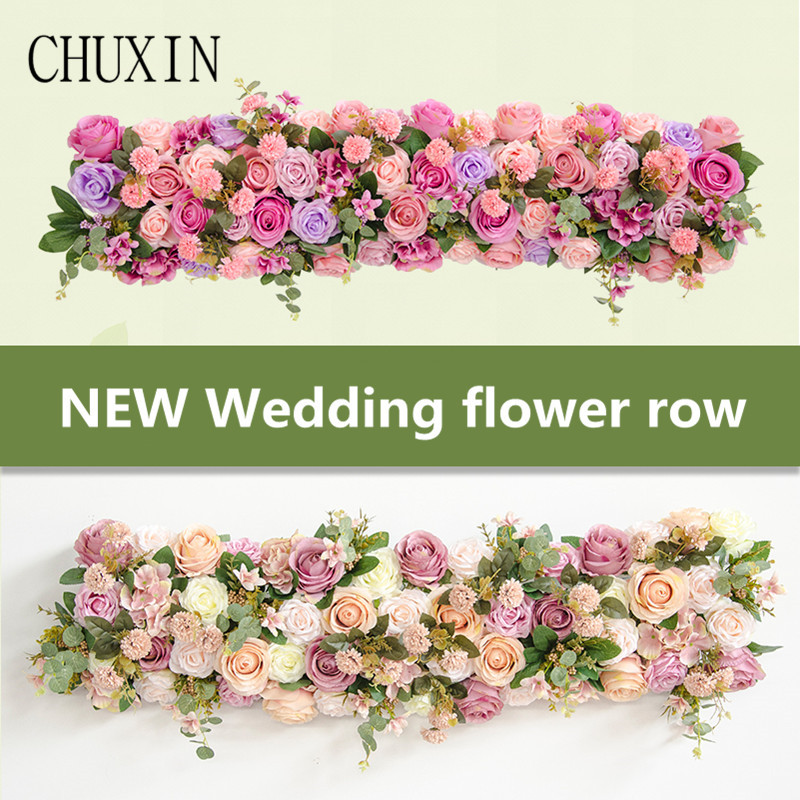 Wedding artificial flowers arch decoration flower rowHome holiday celebration decoration Stage T station wedding Road lead