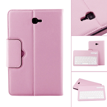 Bluetooth Keyboard Leather Case +Stand for Samsung Galaxy Tab A 10.1  inch T580 Series (SM-T580, SM-T581, SM-T585)
