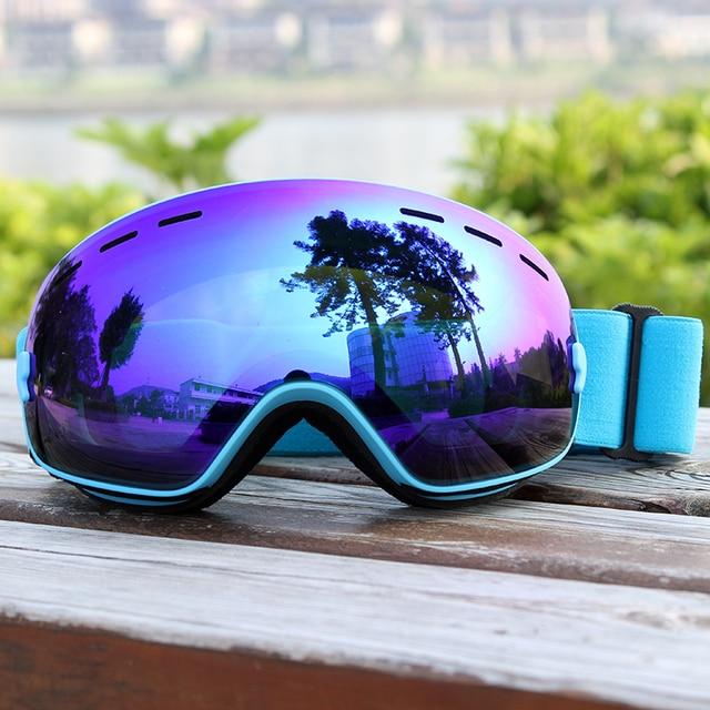 fa4a3d9bcf7 Ski Goggles Layers Lens Adult Anti-fog UV400 Ski Glasses Skiing Snowboard  Men Women Snow Goggles
