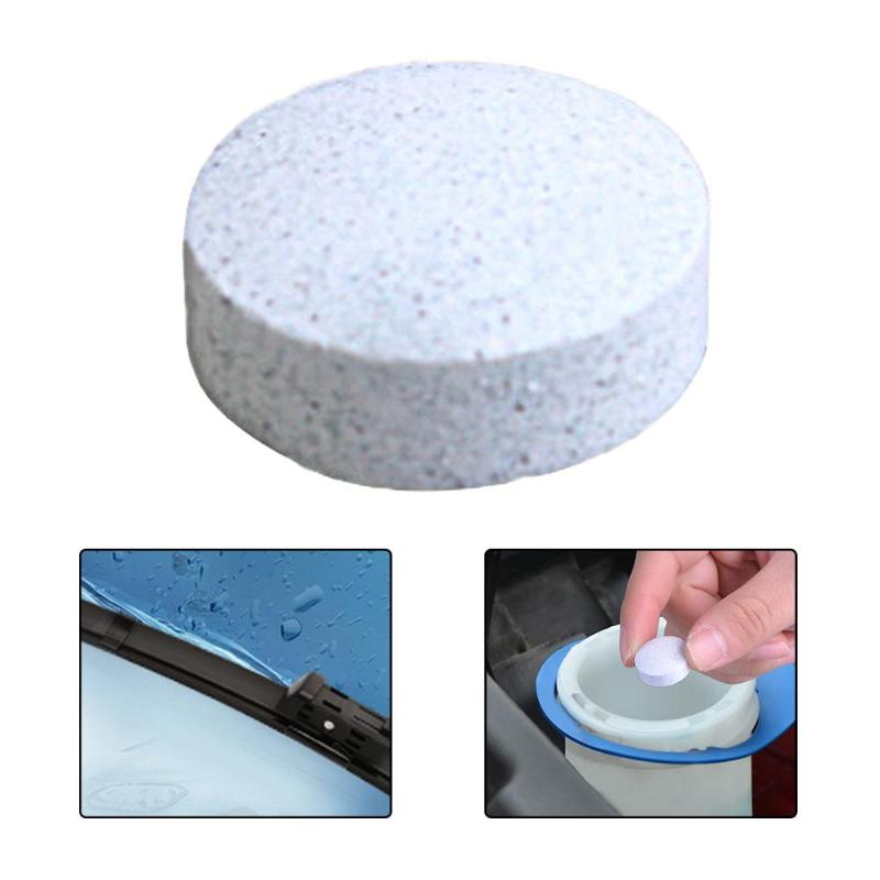 Auto Car Window Windshield Glass Cleaning Agent Pill Concentrated Effervescent Tablet Solid Wiper Fine