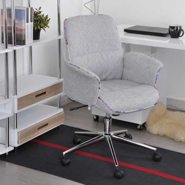 cloth office chairs spica chair for sale aingoo fabric with arms pads seat height adjustable 360 degree rotating wheel boss