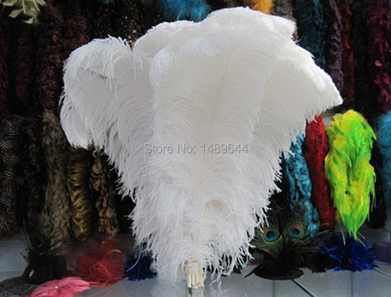 New listing 60pcs natural White ostrich feather 16 18 inches 40 45cm for a variety of