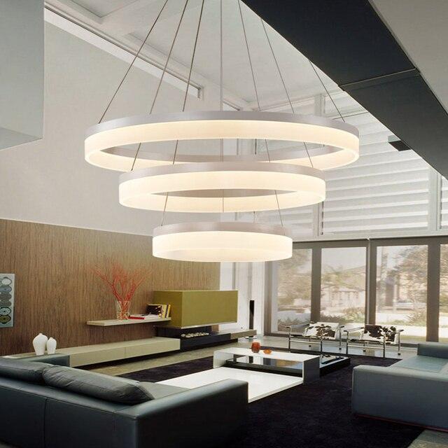 led modern pendant lights suspendus lustre dining room hotel