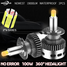 2Pcs 12 Side 19000LM CSP H11 H7 Canbus Car Headlights H8 H1 HB3 9005 9006 3D 360 degre No Error LED Bulb Automotive Fog Lamp 12V(China)