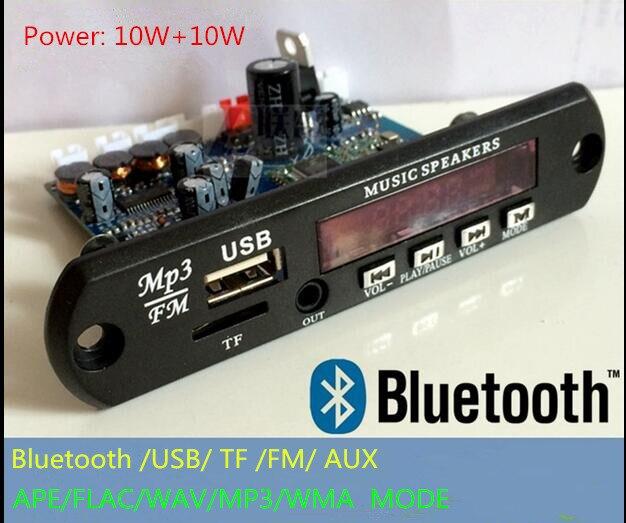 APP Contrôle Bluetooth 4.0 MP3 Décodage Conseil Module TF Fente Pour Carte USB FM APE FLAC WAV WMA Décodeur Conseil KIT Numérique Rouge LED