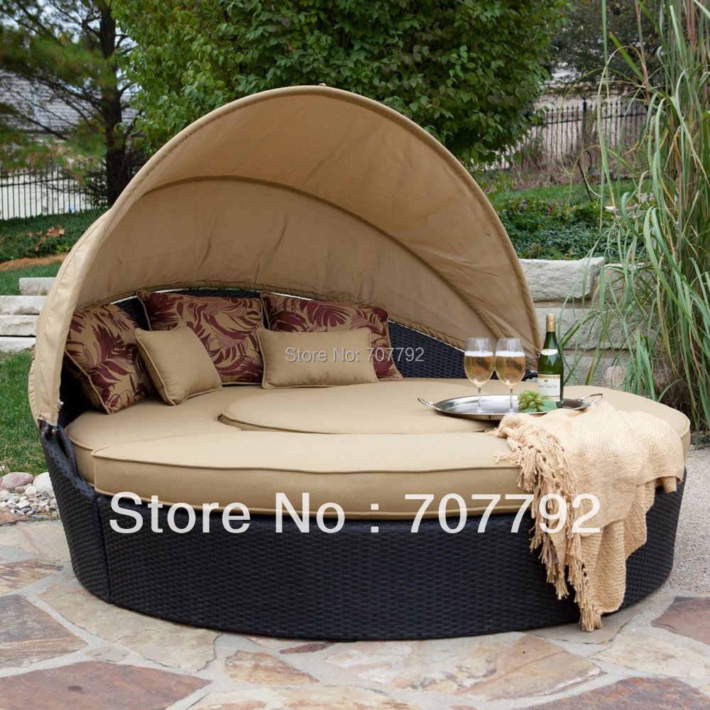 Hot Round Rattan Outdoor Folding