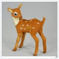 Simulation Animal About 12x8cm Turn Head Reindeer Toy Polyethylene Furs Resin Sika Deer Handicraft Props Decoration