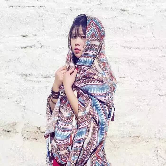 Women silk cotton scarf,geometric scarf,Muslim hijab,muffler,bohemian style,wraps shawls,cape,shawls and scarves,beach towel