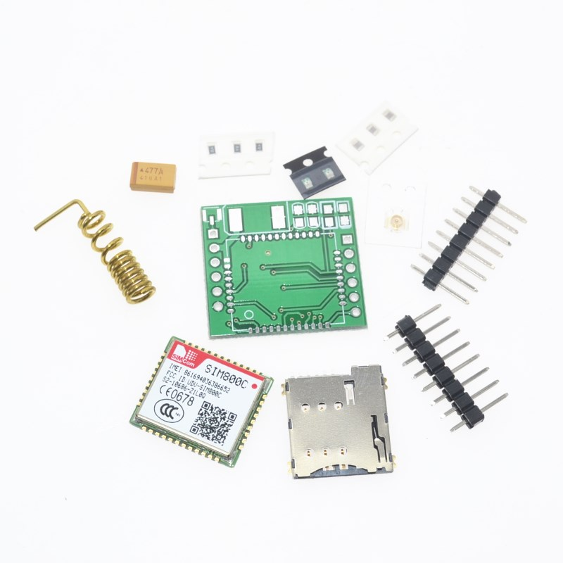 DIY SIM800C GPRS GSM Module MicroSIM Card Core Board Quad-band TTL Serial Port (Compatible SIM800L SIM900A)DIY SIM800C GPRS GSM Module MicroSIM Card Core Board Quad-band TTL Serial Port (Compatible SIM800L SIM900A)