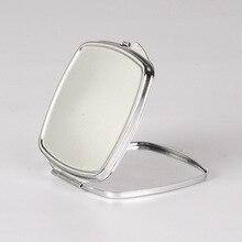 10 шт Пустые Квадратные металлическое компактное зеркало Индивидуальные DIY логотип зеркало с принтом