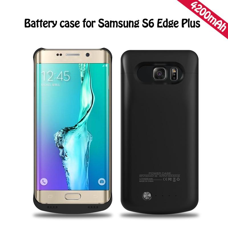 imágenes para Para samsung galaxy s6 edge plus g9250 teléfono celular 4200 mah Caso 5.7 pulgadas Del Teléfono Cargador de Baterías Del Teléfono externo Cargador de Bateria caso