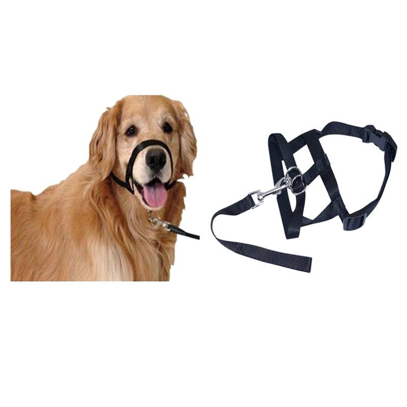 Practical Dogs Puppy Nylon Adjustable Buckle Muzzle Control Barking Ventilation, Black S