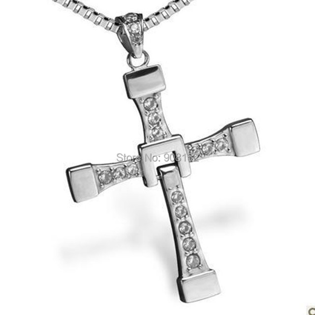 Completely stainless steel cross necklace with shiny gemmed zircon completely stainless steel cross necklace with shiny gemmed zircon titanium cross jewelry aloadofball Images