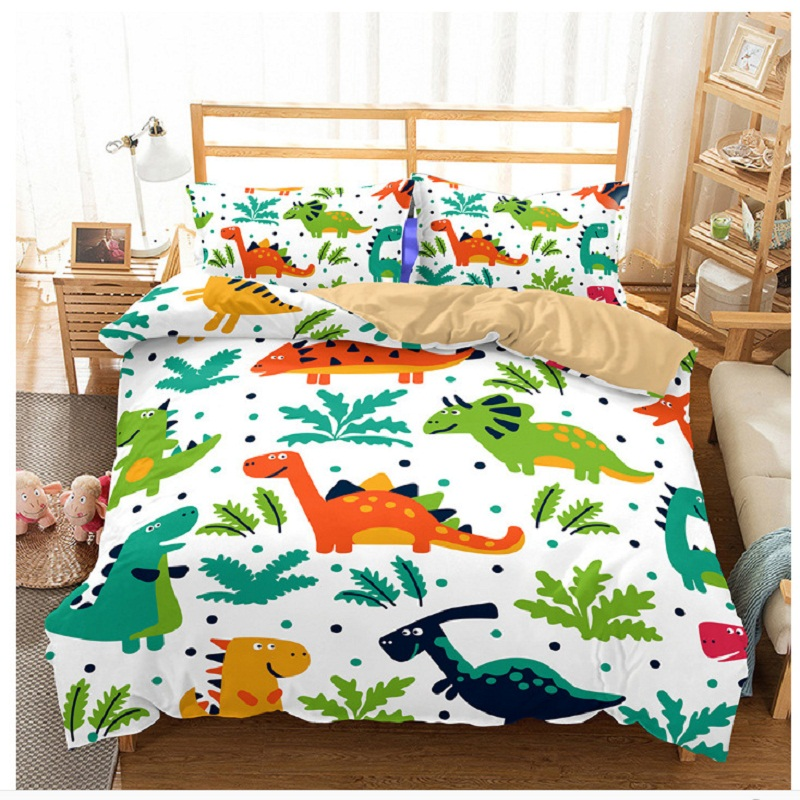 3D dinosaur bedding full for kids dinosaur bed covers queen size single dinosaur bed linen Bedclothes comforter bedding sets 6qq (6)