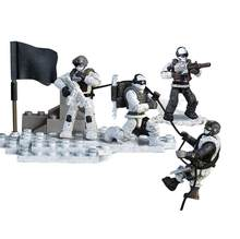 Modern military 1:36 scale Snow Leopard Commando Crossing Snow Mountain mega building block army action figures bricks toys(China)