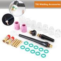 Best Promotion 29Pcs TIG Welding Stubby Gas Len For WP 17/18/26 TIG Welding Accessories Durable TIG Welding Torch Kit